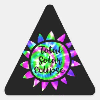 Tie Dye Total Solar Eclipse Sticker