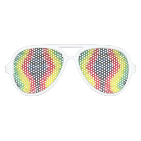 tie dye white aviator sunglasses rasta