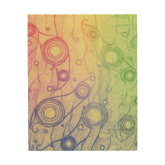 Tie Dye Wood Wall Art