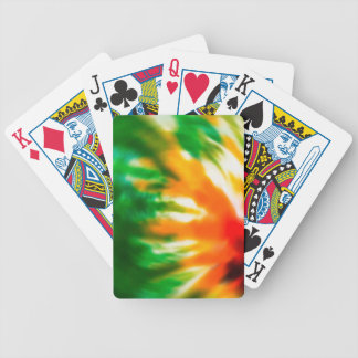 Tie Dyed Bicycle Playing Cards