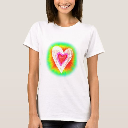 Tie-dyed Heart T-Shirt