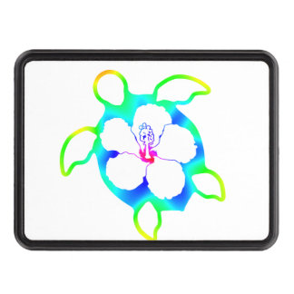 Tie Dyed Honu Turtle Hitch Covers