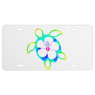 Tie Dyed Honu Turtle License Plate