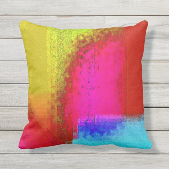 """Tie Dyed"" Outdoor Throw Pillow, 16"" x 16"" Outdoor Pillow"