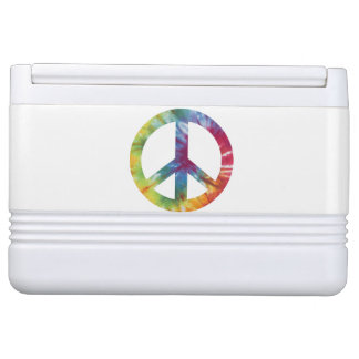 Tie Dyed Peace Sign Igloo 12 & 24 Can Cooler