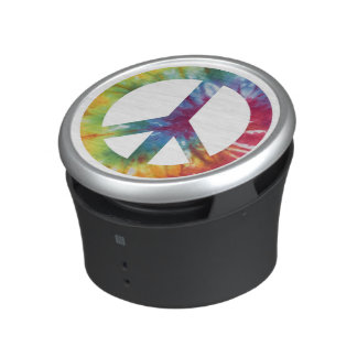 Tie Dyed Peace Sign OrigAudio Bumpster Speaker
