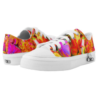 Tie-Dyed Shells Low-Top Sneakers
