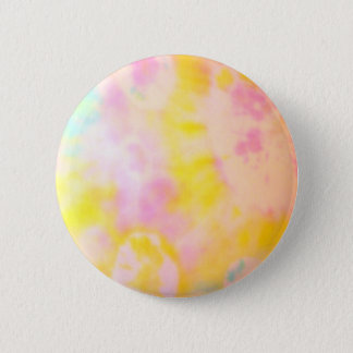 Tie Dyed Yellow Watercolor-like Batik texture 2 Inch Round Button