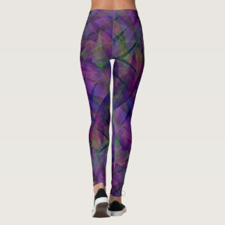 Tie Dyed Zig Zag Pattern Leggings