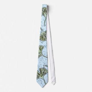 Tie Ginkgo Leaves on Blue