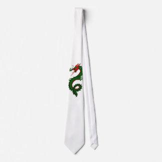 Tie Green Dragon Sharp Clean Stylish Dad Father Pa