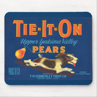 Tie-It-On Pears Vintage Advertisement Mouse Mats