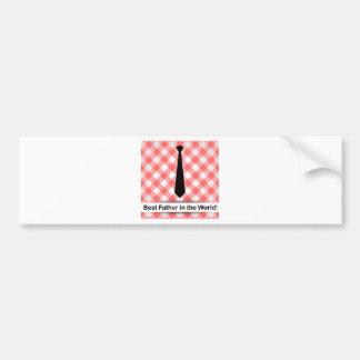 Tie on a red gingham pattern background bumper sticker