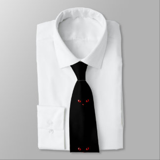 TIE ONE ON Cats Eyes Red Tie