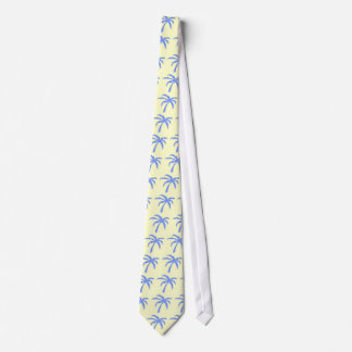 tie - pale yellow with blue palm trees