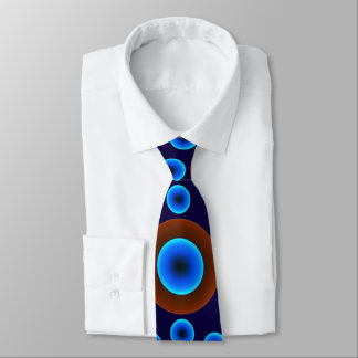 tie retro blue brown dots