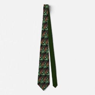 Tie /  Snow Trillium & Oak Leaf