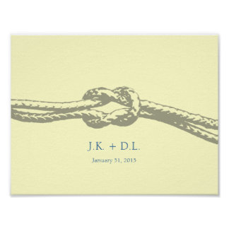 Tie the Knot Personalized print