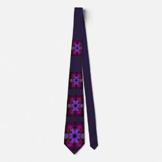 Tie with Purple, Pink and Black Geometric Pattern