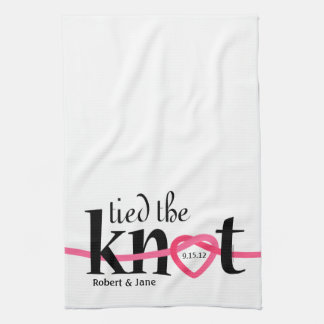Tied The Knot Personalized Kitchen Towel