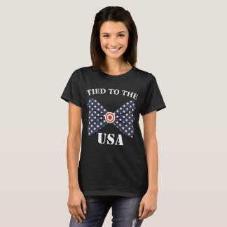 Tied to the USA Bowtie American Flag T-Shirt