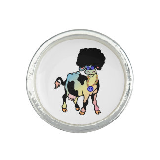 Tiedye Afro Cow Ring