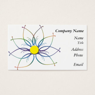 TieDye Daisy Business Card