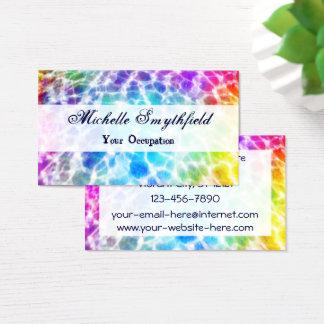 Tiedye Hippie Wavy Rainbow Effect Business Card