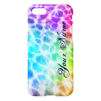 Tiedye Hippie Wavy Rainbow Effect Personalized iPhone 7 Case