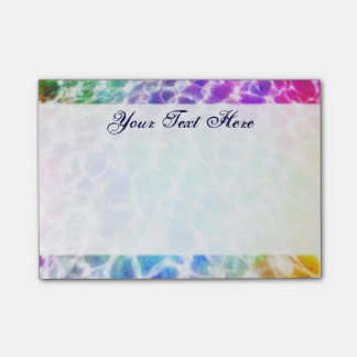 Tiedye Hippie Wavy Rainbow Effect Post-it Notes
