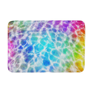 Tiedye Hippie Wavy Rainbow Pool Water Effect Bath Mat