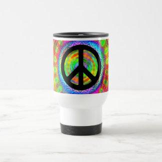 Tiedye Target Peace Symbol Travel Mug