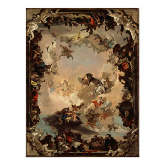 Tiepolo Allegory of the Planets and Continents Poster
