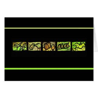 Tierce en Taille Vert Card