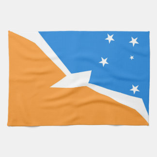 Tierra del Fuego Argentina flag fire land province Kitchen Towel