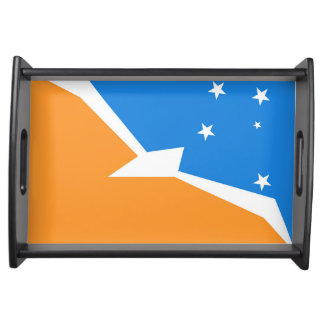 Tierra del Fuego Argentina flag fire land province Serving Tray