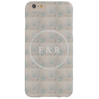Tiffany Aqua and Champagne Gold Marble Barely There iPhone 6 Plus Case