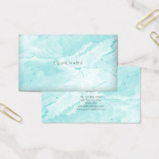 Tiffany Aqua Blue Marble Vip Abstract Minimal Vip Business Card