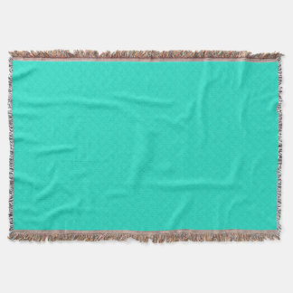 Tiffany Aqua Blue Quilted Pattern Throw Blanket