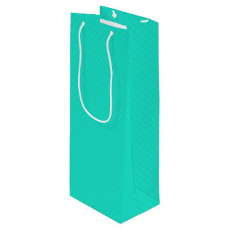 Tiffany Aqua Blue Quilted Pattern Wine Gift Bag