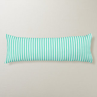 Tiffany Aqua Blue Sailor Stripes Body Pillow