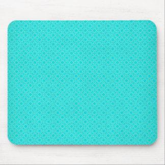 Tiffany Blue and Cream Interlocking Circles Mouse Pad