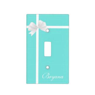 Tiffany Blue Box & Bow Decor Light Switch Cover