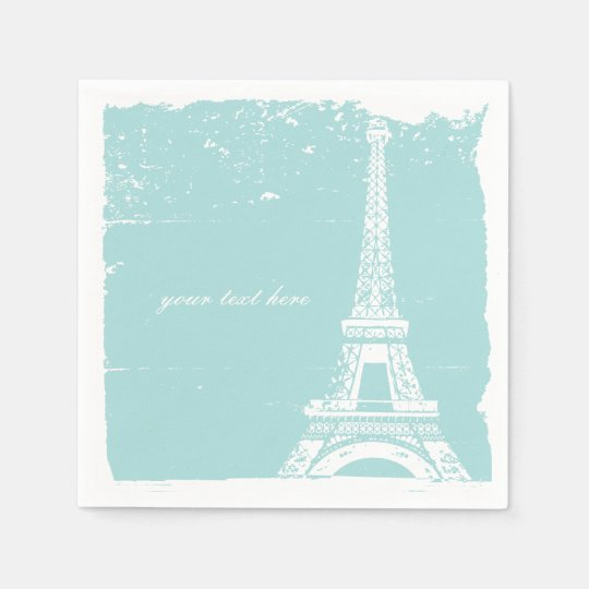 Tiffany Blue Eiffel Tower Paper Napkin Set