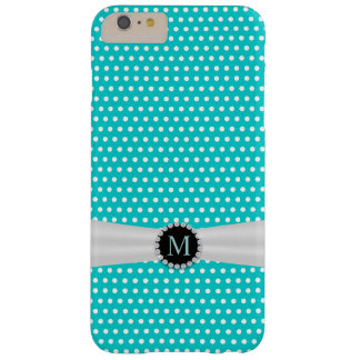 Tiffany Blue & Ivory Ribbon Polka Dots Barely There iPhone 6 Plus Case