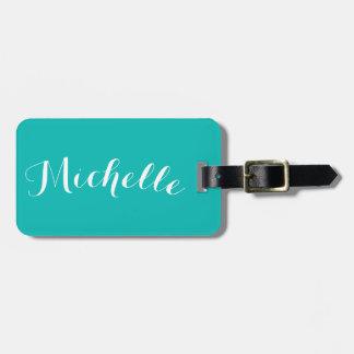 Tiffany Blue Luggage Name Tag