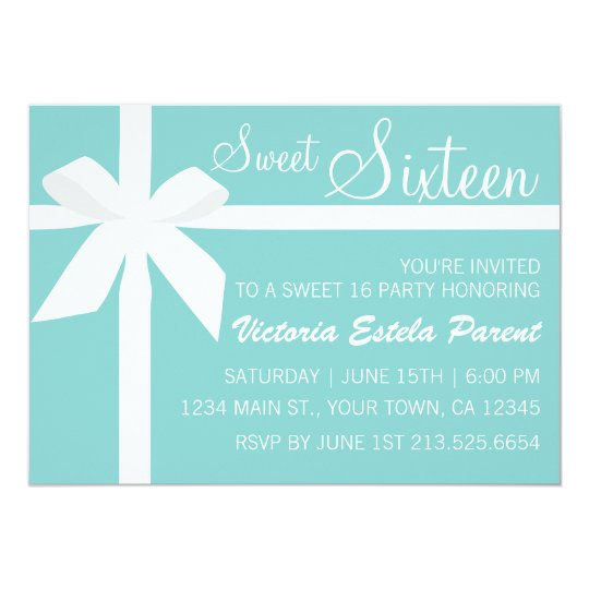 Tiffany Blue Sweet 16 Invitation