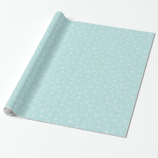 Tiffany Blue & White Floral Pattern Wrapping Paper