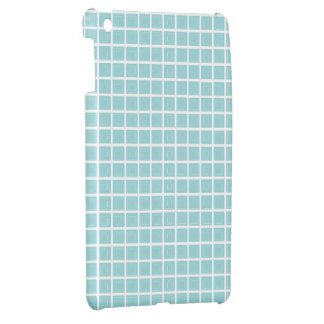 Tiffany Blue & White Tile Pattern (Trois Carrés) Cover For The iPad Mini