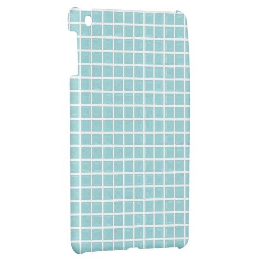 Tiffany Blue & White Tile Pattern (Trois Carrés) Cover For The iPad Mini